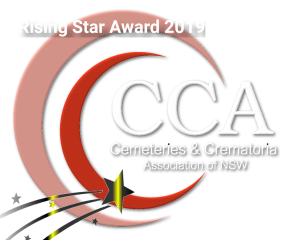CCA NSW Logo white bevel shadow rising star award 320px